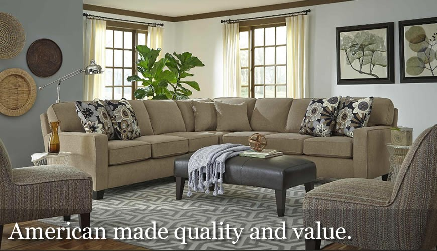 Quality, American made upholstery.